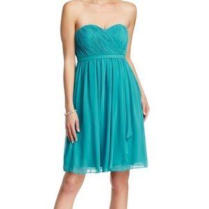 Donna Morgan Blue Green Lindsey Cocktail Dress